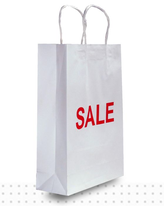 Paper Shopping Bags SMALL White Sale Regular  19f35b8ed9b43