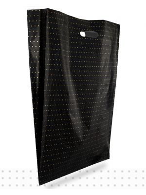 X-LARGE Gold Dots HD Plastic Bags