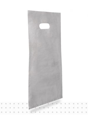 Plastic Carrier Bags SMALL Silver HD