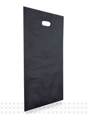 Plastic Carrier Bags LARGE Black HD