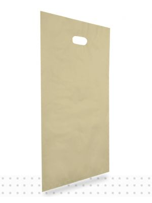 Plastic Carrier Bags LARGE Gold HD
