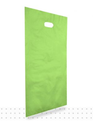 Plastic Carrier Bags LARGE Lime HD