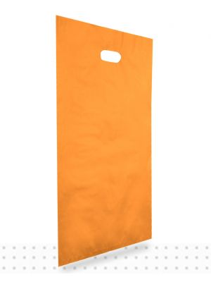Plastic Carrier Bags LARGE Orange HD