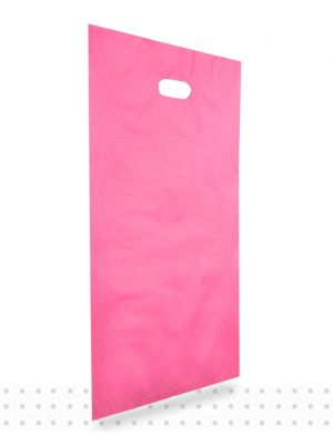 Plastic Carrier Bags LARGE Pink HD