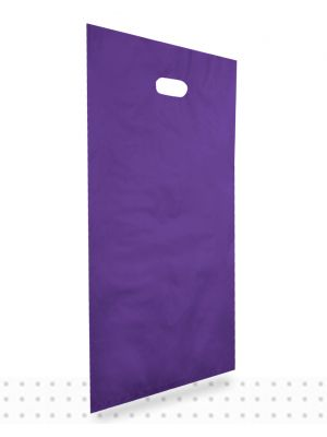 Plastic Carrier Bags LARGE Purple HD