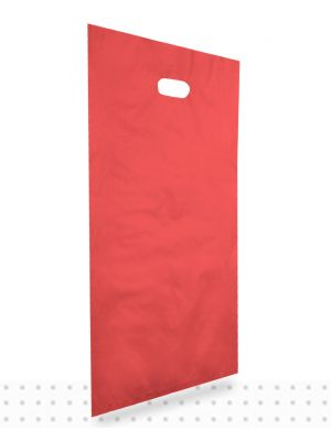 Plastic Carrier Bags LARGE Red HD