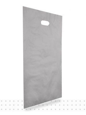Plastic Carrier Bags LARGE Silver HD