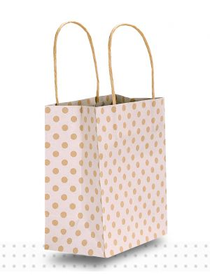 Paper Bags with Handles TODDLER White Spots Regular