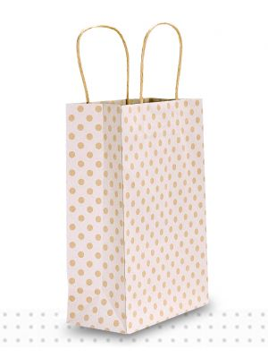 Paper Bags with Handles JUNIOR White Spots Regular