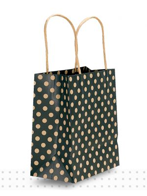 Paper Bags with Handles TODDLER Black Spots Regular
