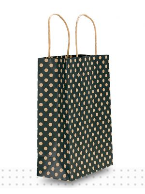 Paper Bags with Handles JUNIOR Black Spots Regular