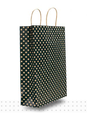 Paper Bags with Handles MIDI Black Spots Regular