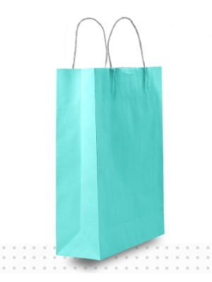 Coloured Paper Bags SMALL Blue Regular