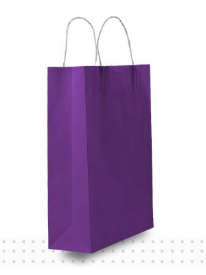 Coloured Paper Bags SMALL Purple Regular