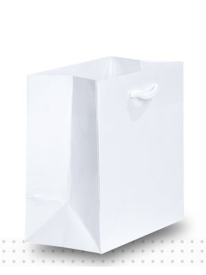 Laminated Carry Bags TINY Gloss White Deluxe
