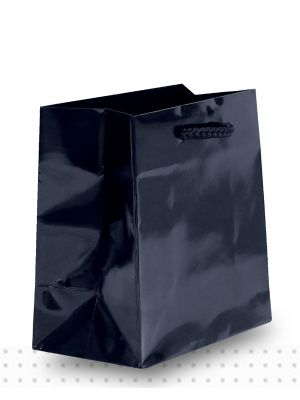 Laminated Carry Bags TINY Gloss Black Deluxe
