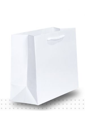 Laminated Carry Bags SMALL Gloss White Deluxe