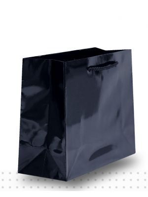 Laminated Carry Bags SMALL Gloss Black Deluxe
