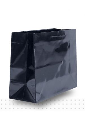 Laminated Carry Bags MEDIUM Gloss Black Deluxe