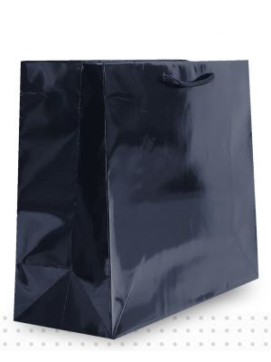Laminated Carry Bags LARGE Gloss Black Deluxe