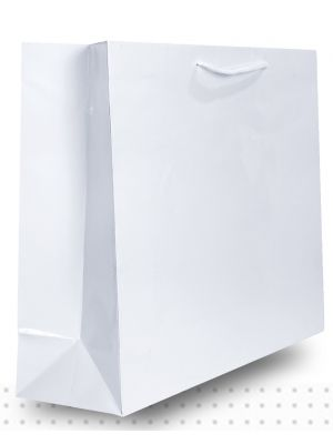 Laminated Carry Bags X-LARGE Gloss White Deluxe