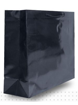 Laminated Carry Bags X-LARGE Gloss Black Deluxe