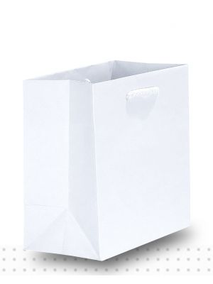 Gift Bags TINY Matte White Deluxe