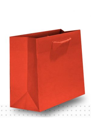 Gift Bags SMALL Matte Red Deluxe