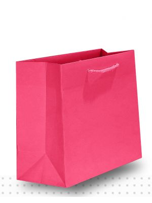 Gift Bags SMALL Matte Hot Pink Deluxe