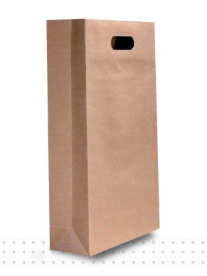 Wine Bags TPLE Brown DieCut
