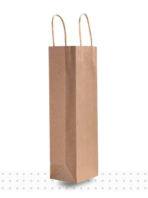 Wine Bags SGLE Brown Regular