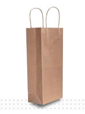 Wine Bags DBLE Brown Regular